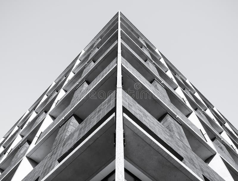 Bakgrund för modell för arkitekturdetaljbyggnad royaltyfria bilder