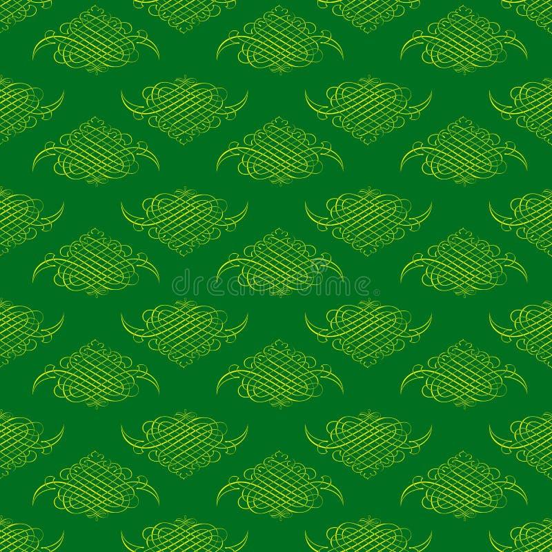 Bakgrund för modell för tappningramgräsplan dekorativ stock illustrationer