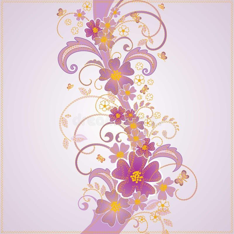 Bakgrund för modell för vektorblomma sömlös Elegant textur för bakgrunder Klassisk lyxig gammalmodig blom- prydnad, seamle royaltyfri illustrationer