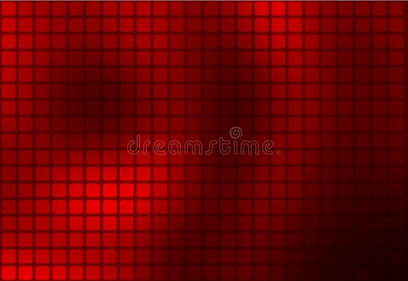 Bakgrund för mosaik för djupt burgundy rött abstrakt begrepp rundad stock illustrationer
