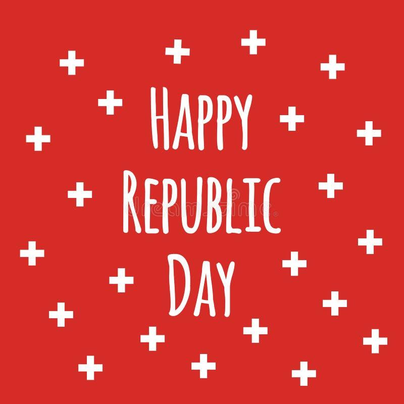 Bakgrund för nationell dag för självständighet schweizisk med den lyckliga republikdagen för citationstecken för Schweiz royaltyfri illustrationer