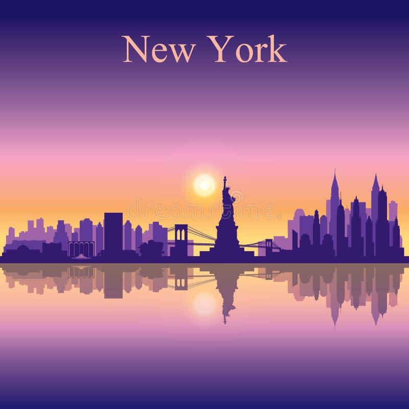Bakgrund för New York City horisontkontur royaltyfri illustrationer