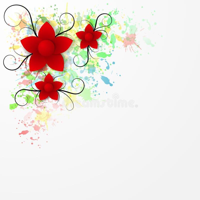 Download Bakgrund För Pappers- Blomma Vektor Illustrationer - Illustration av kort, blom: 37346365