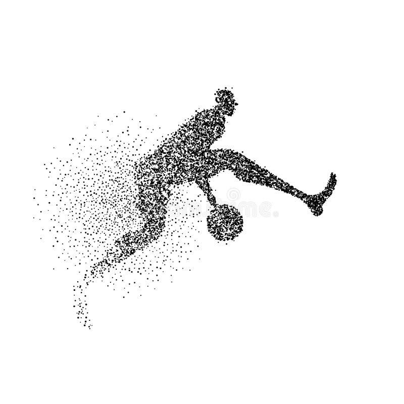 Bakgrund för partikel för kontur för basketspelare stock illustrationer
