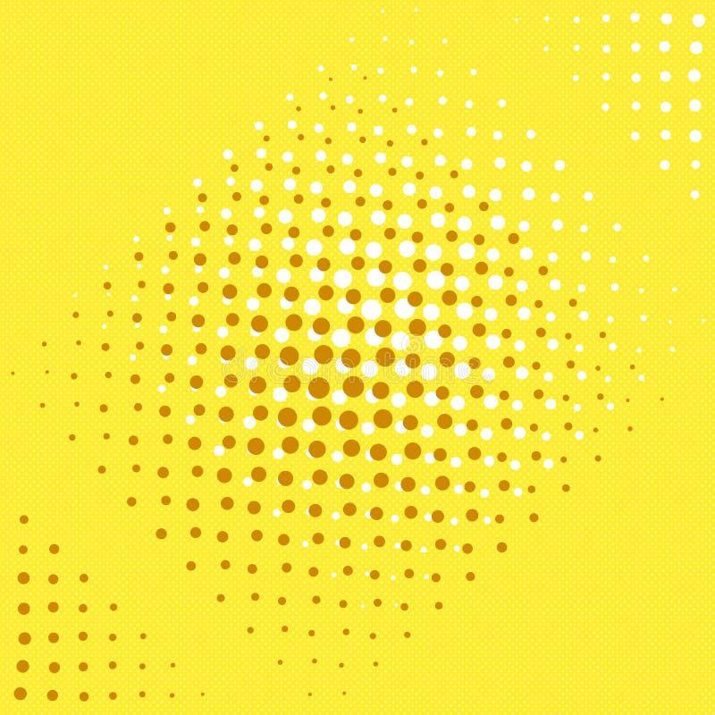 Bakgrund för popkonst Guling, brunt och apelsin Abstrakt bakgrundskort och skugga vektor illustrationer