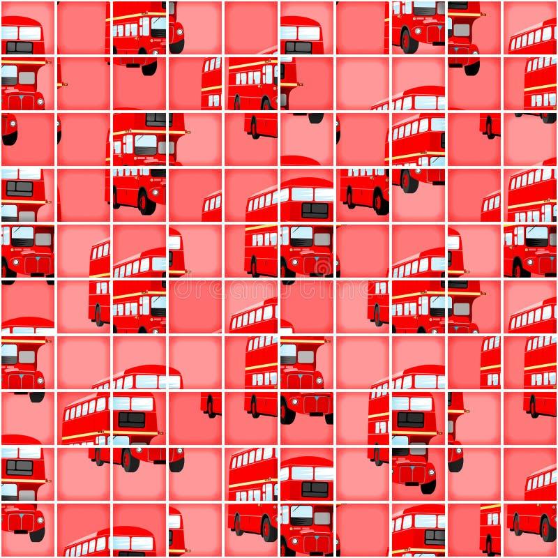 Bakgrund för pussel för London bussPIXEL royaltyfri illustrationer