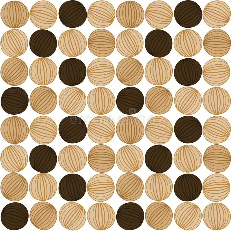 Bakgrund för randiga kiselstenar för cirkulär sömlös royaltyfri illustrationer