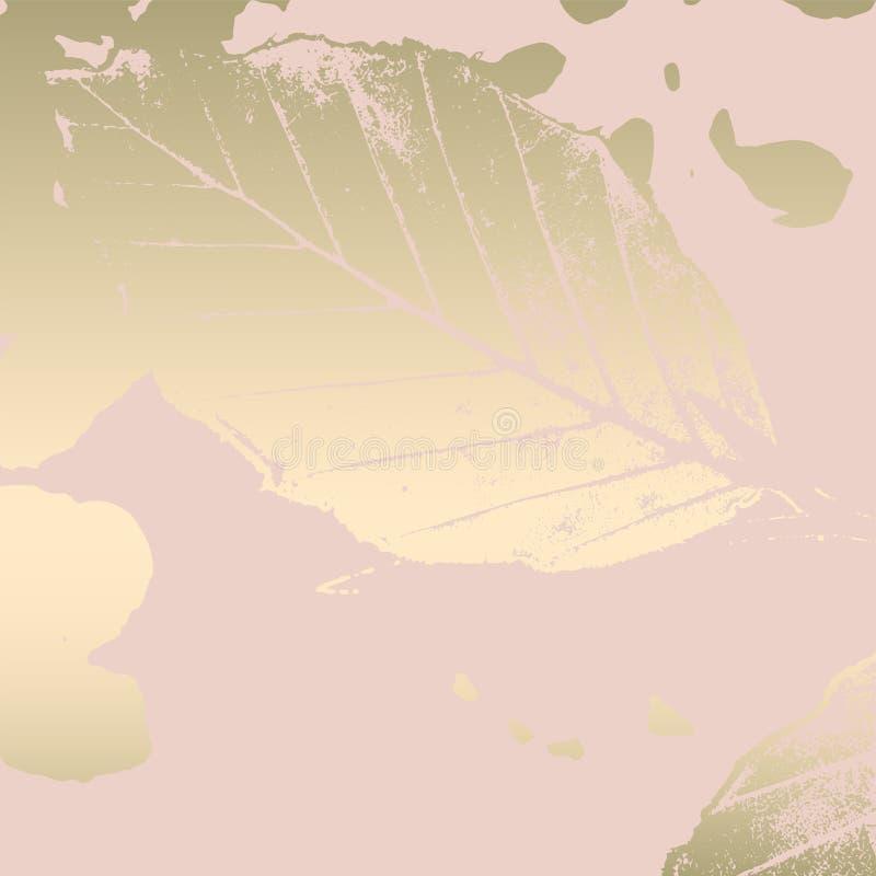 Bakgrund för rodnad för höstlövverk rosa guld- stock illustrationer