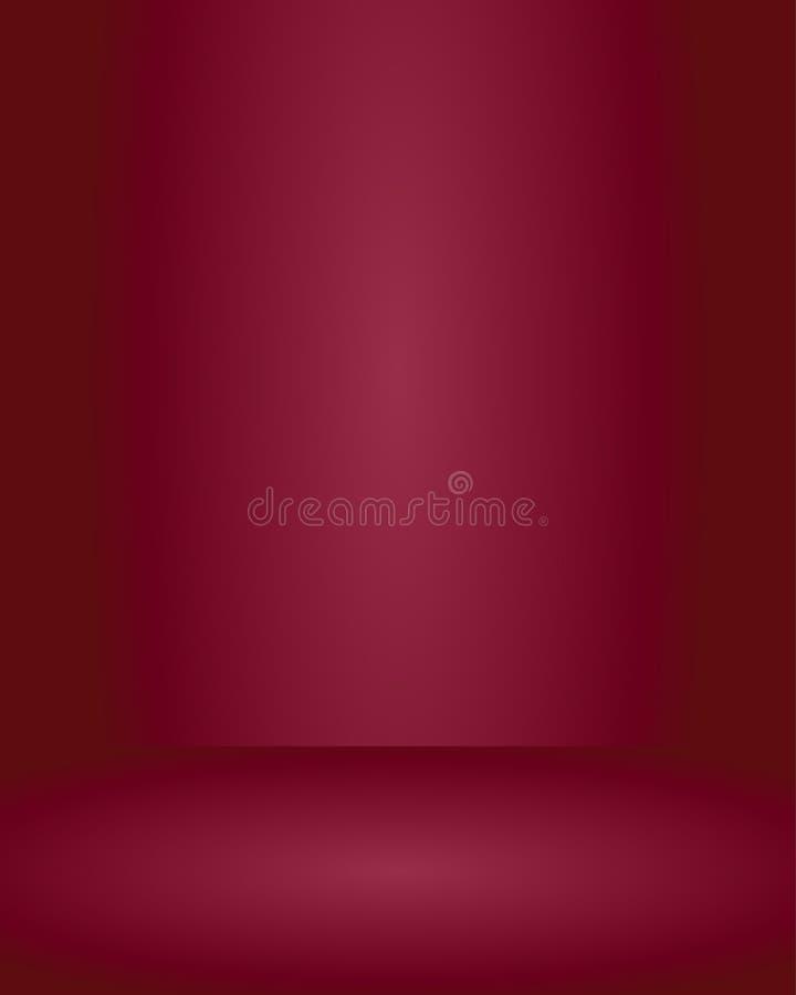 Bakgrund för rum för studio för röd färg för vektor tom orange, mallåtlöje upp för skärm eller montage av produkten, affär royaltyfri illustrationer