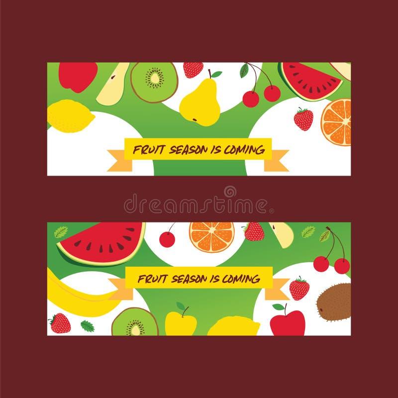 Bakgrund för sömlös vektor för fruktmodell frukt- och fruktbar exotisk tapet med nya skivor av vattenmelonapelsinen stock illustrationer