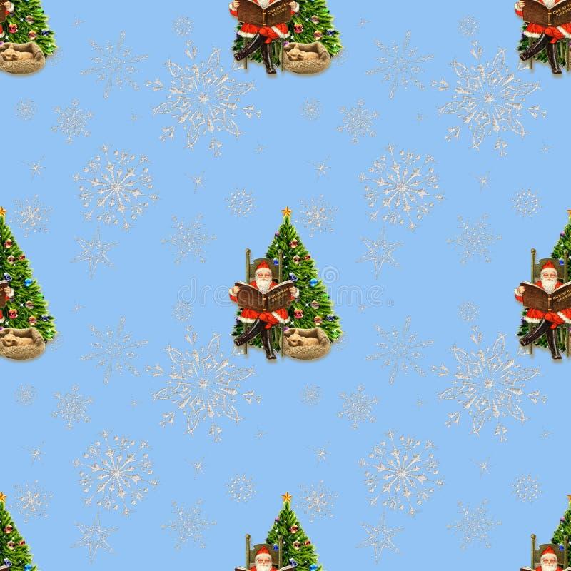 Bakgrund för sömlöst nytt år för feriegarnering År av svinet santa _ royaltyfri bild
