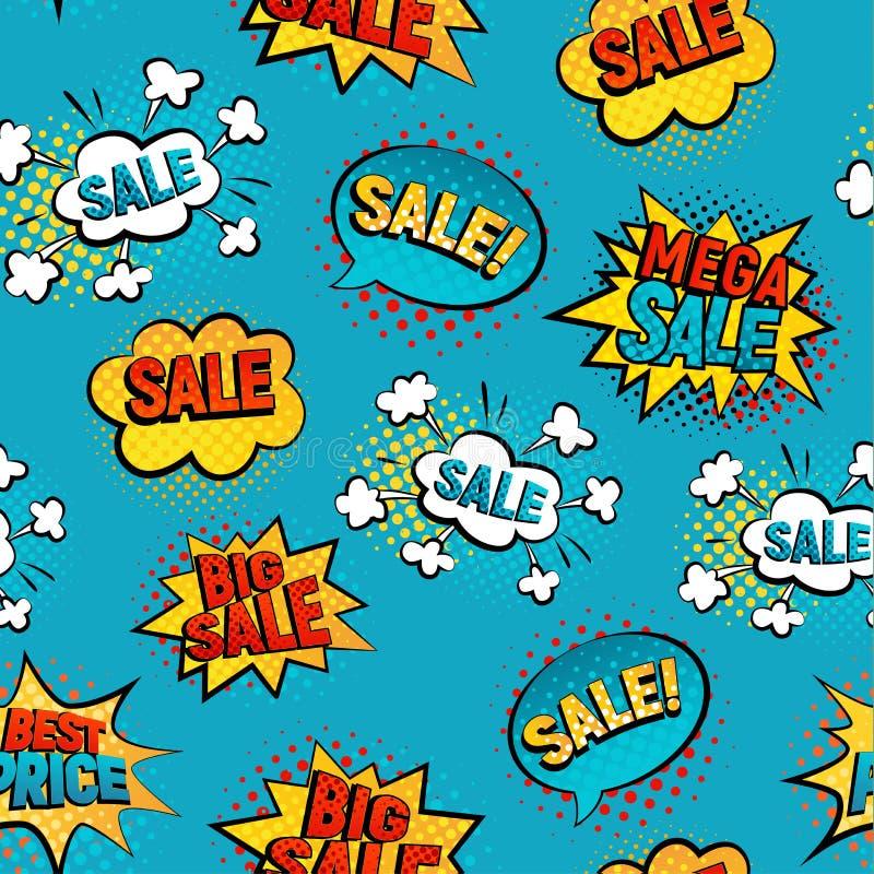 Bakgrund för Sale modellvektor vektor illustrationer