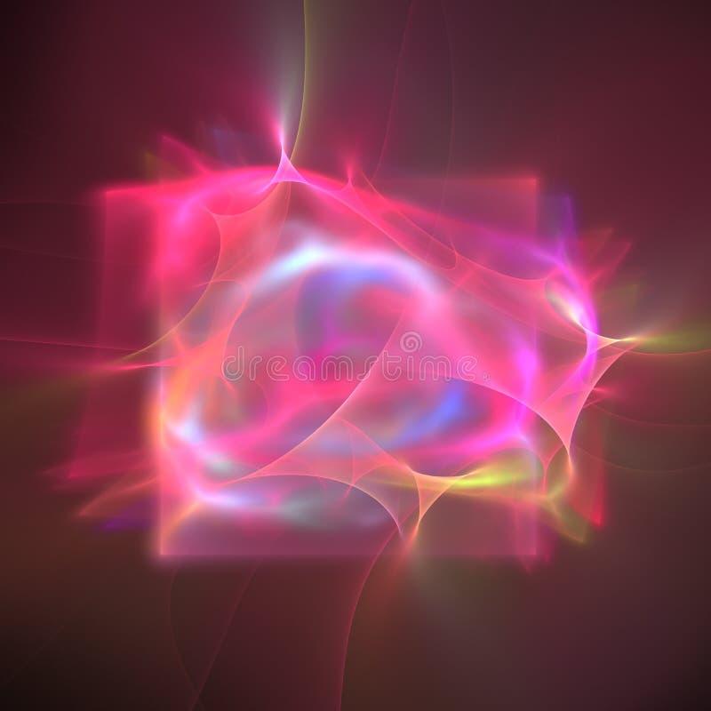 Bakgrund för skärm för suddig vätskeeffekt för elkraft krabb holographic rosa siden- mjuk royaltyfri illustrationer