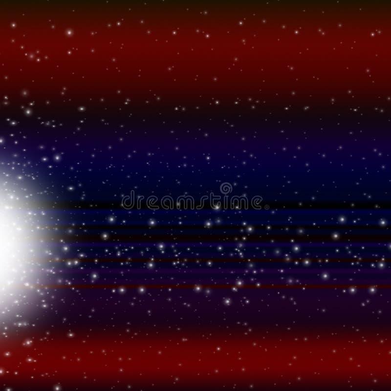 Bakgrund för skyttestjärnan visar Celestial Body And Meteorite stock illustrationer