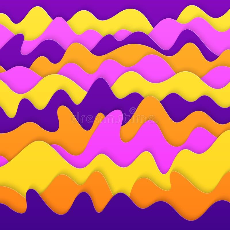 Bakgrund för snitt för papper 3D för universal abstrakt realistisk vektor illustrationer