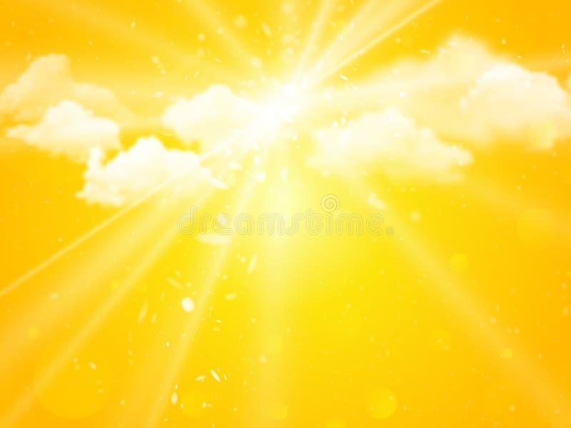 Bakgrund för sommar för solskenhimmelabstrakt begrepp stock illustrationer