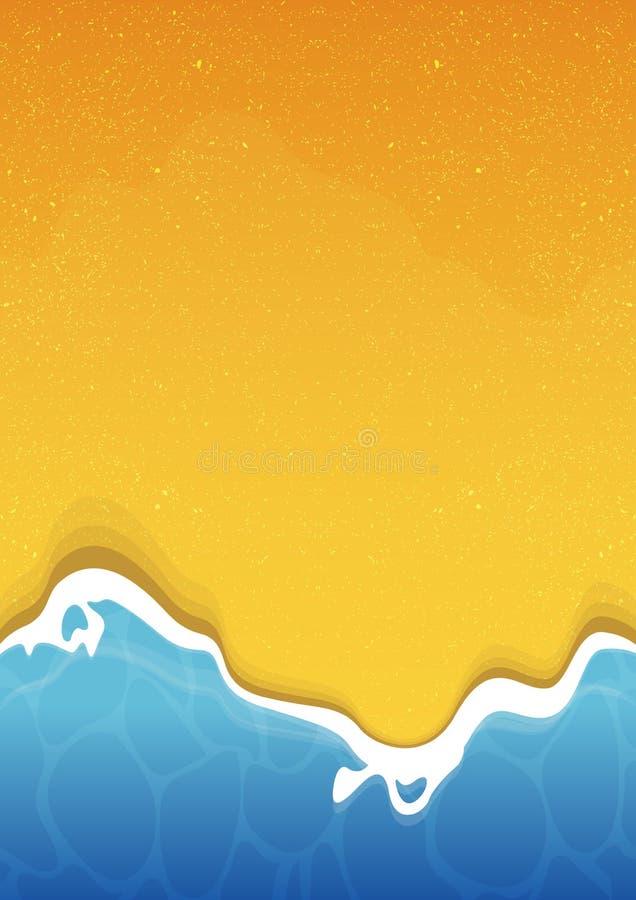 Bakgrund för sommarstrandtextur med havet och sand vektor illustrationer