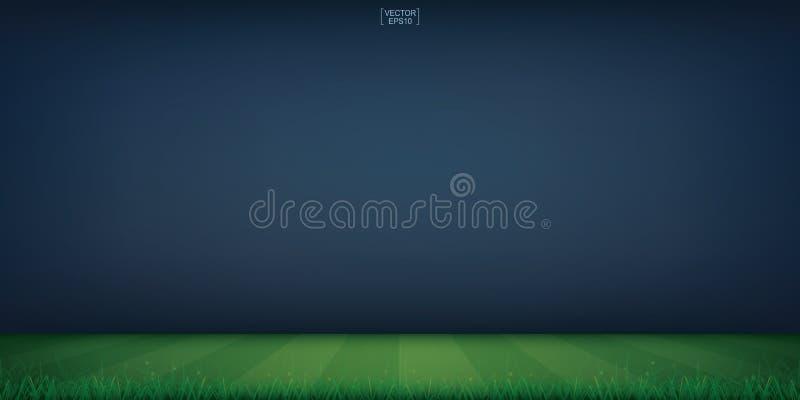 Bakgrund för stadion för fotbollfält eller för fotbollfält vektor stock illustrationer