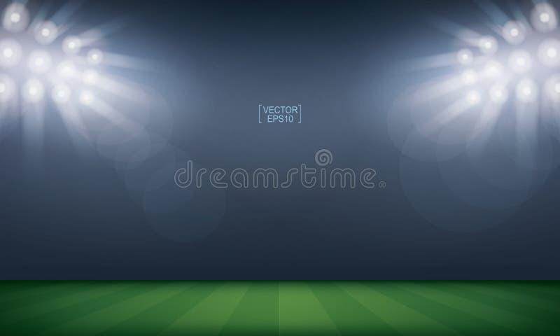 Bakgrund för stadion för fotbollfält eller för fotbollfält vektor vektor illustrationer