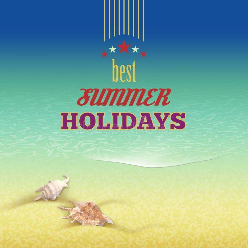 Bakgrund för stil för sommarferier retro vektor illustrationer