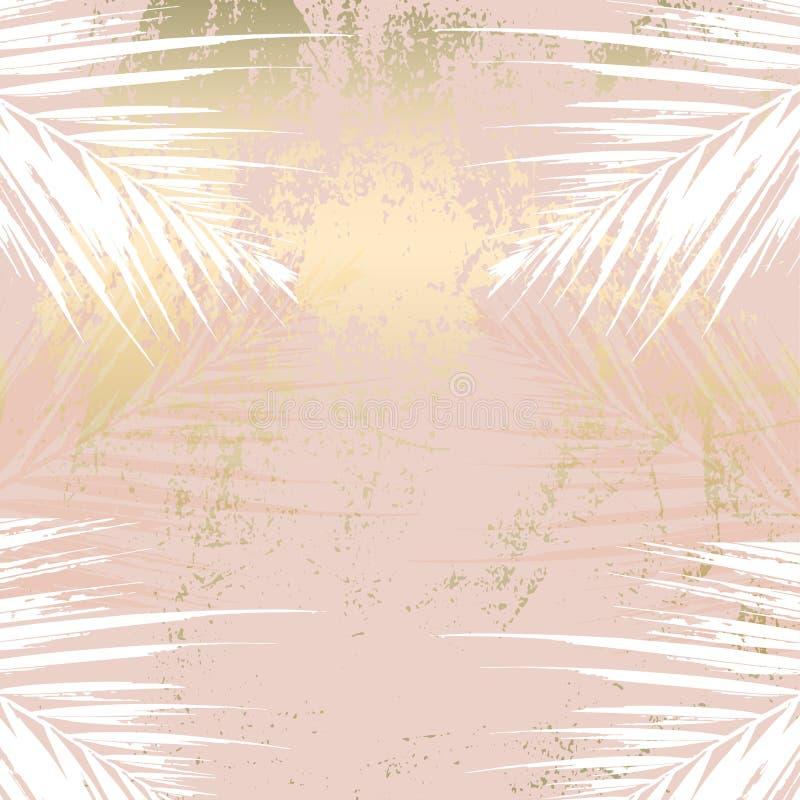Bakgrund för stil för rodnad för höstlövverk rosa guld- stock illustrationer