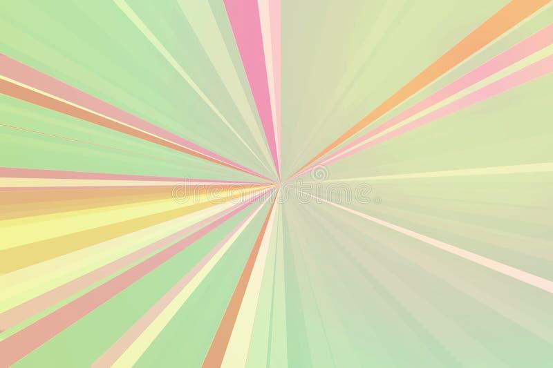 Bakgrund för strålar för diskoljus abstrakt Färgrik bandstrålmodell Moderna trendfärger för stilfull illustration stock illustrationer