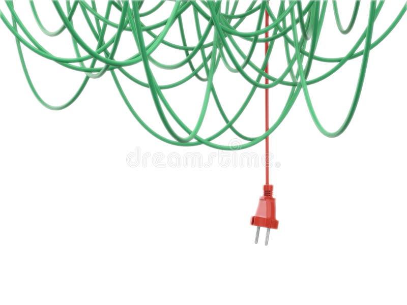 Bakgrund för strömkablar arkivbild