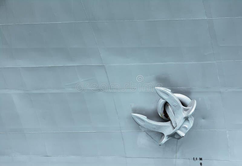Bakgrund för stridskeppankare Krigsskeppankare royaltyfri bild
