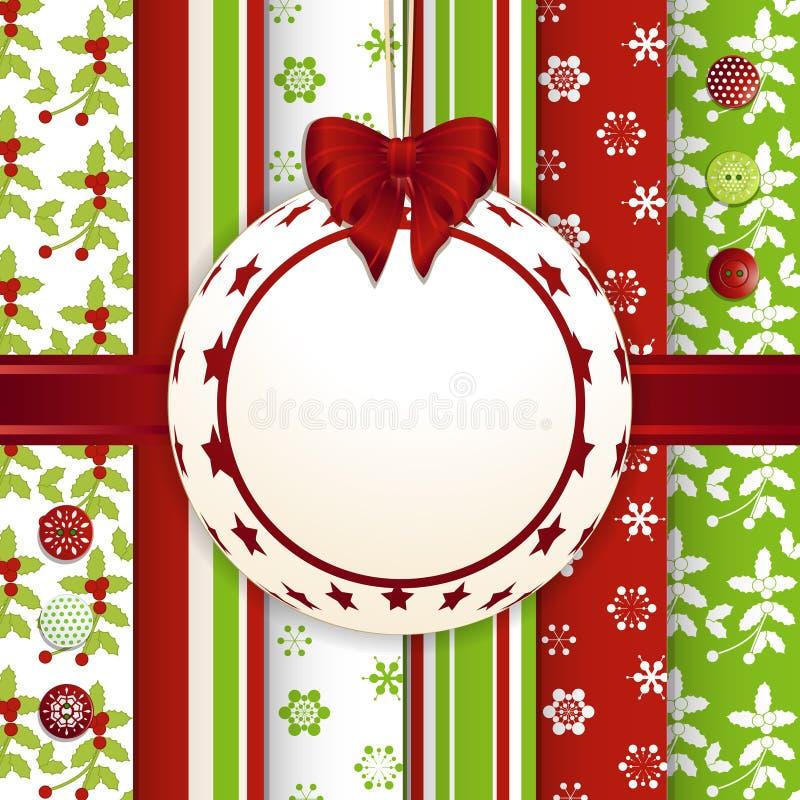 Bakgrund för struntsak för julrestbok stock illustrationer