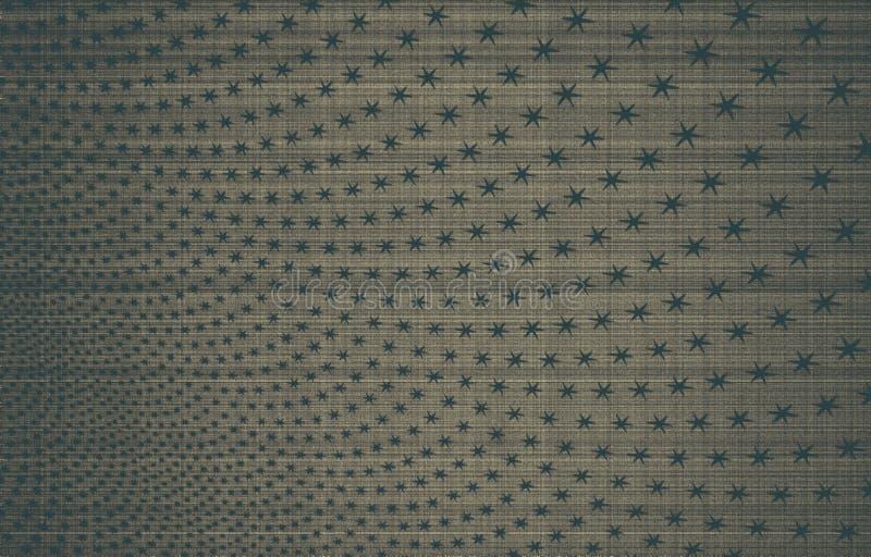 Bakgrund för svarta och blåa stjärnor på en Grungebakgrund royaltyfria bilder