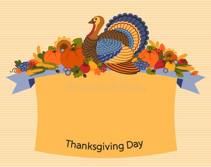 Bakgrund för tacksägelsedag vektor illustrationer