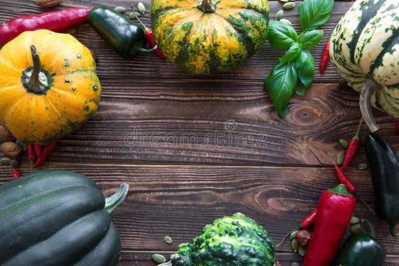 Bakgrund för tacksägelsedagbegrepp Pumparam, sortimentnolla arkivfoton