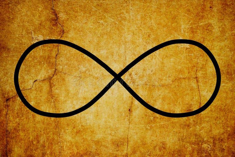 Bakgrund för tappning för symboler för kosmiskt Lemniscate oändlighetssymbol magisk royaltyfri illustrationer