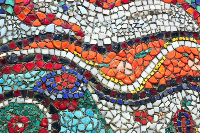 Bakgrund för tappningcolorfullmosaik arkivfoton