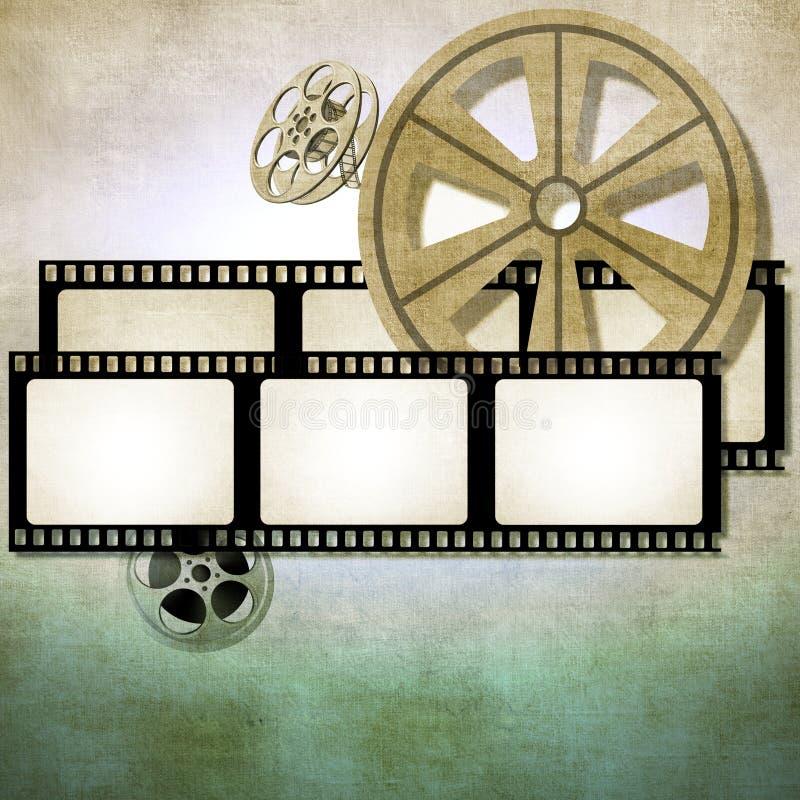 Bakgrund för tappningfilmremsa med rullar arkivfoton