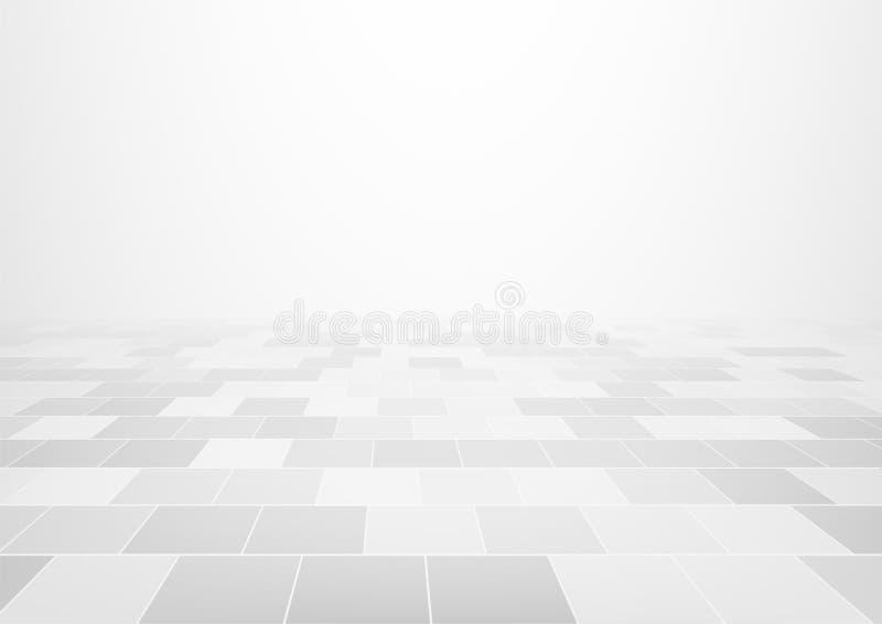 Bakgrund för tegelplattagolv stock illustrationer