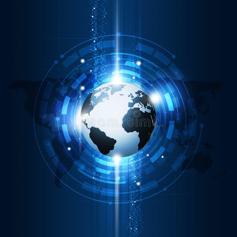 Bakgrund för teknologi för global kommunikation för begrepp vektor illustrationer
