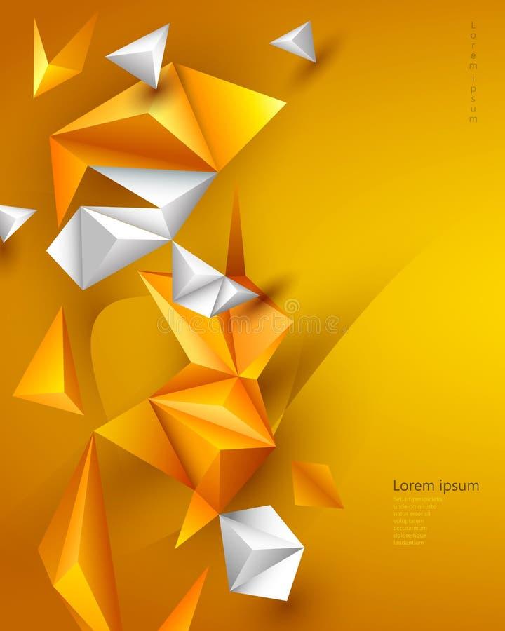 Bakgrund för teknologi för vektorillustration polygonal för banret, mall, tapet, rengöringsdukdesign vektor illustrationer