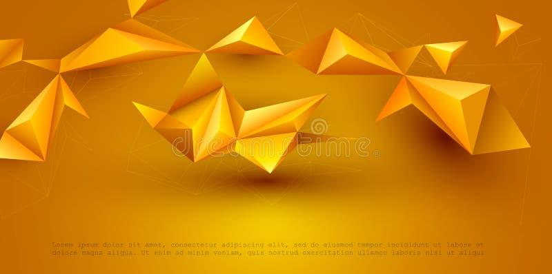 Bakgrund för teknologi för vektorillustration polygonal för banret, mall, tapet, rengöringsdukdesign royaltyfri illustrationer