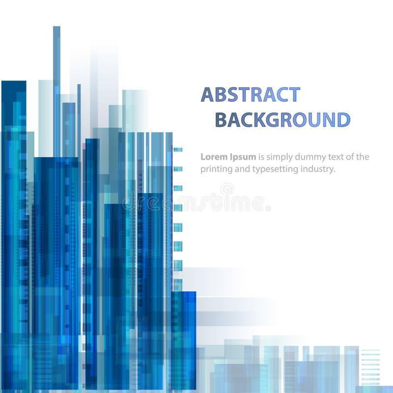 Bakgrund för teknologiabstrakt begreppblått med stordiahologrammet och former vektor illustrationer