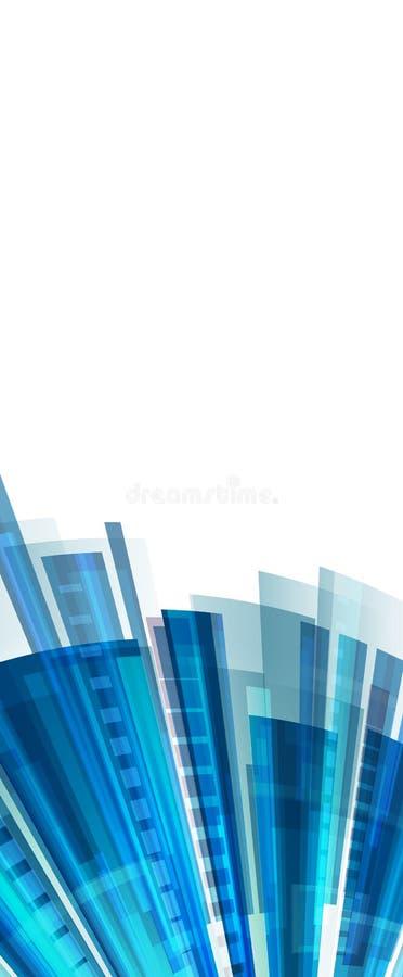 Bakgrund för teknologiabstrakt begreppblått med stordiahologrammet och former royaltyfri illustrationer