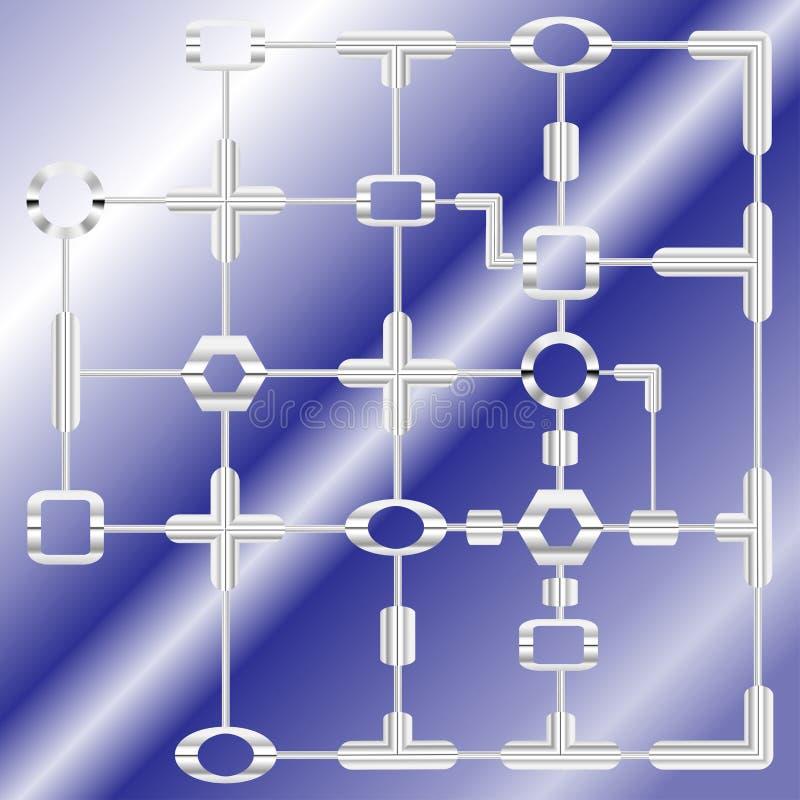 Bakgrund för teknologisystemdesign royaltyfria foton