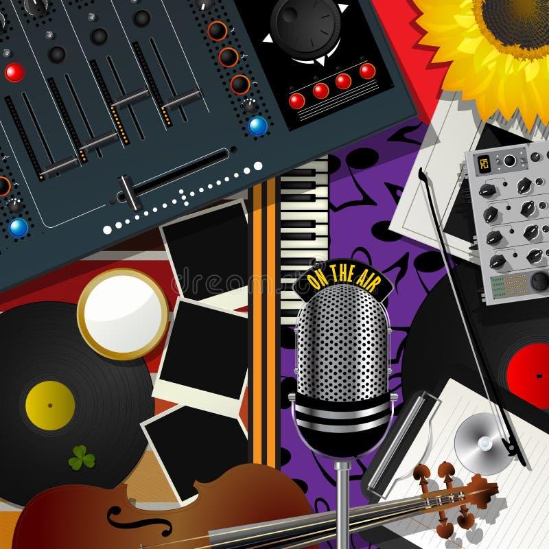 Modern musik för Scrapbook stock illustrationer