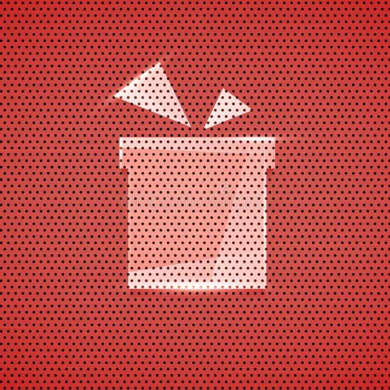 Bakgrund för textur för gåvasymbolsmetall röd stock illustrationer