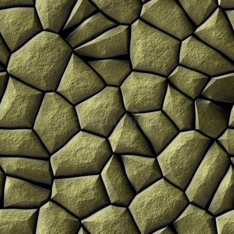Bakgrund för textur för modell för guld- sten för kullersten sömlös royaltyfri illustrationer