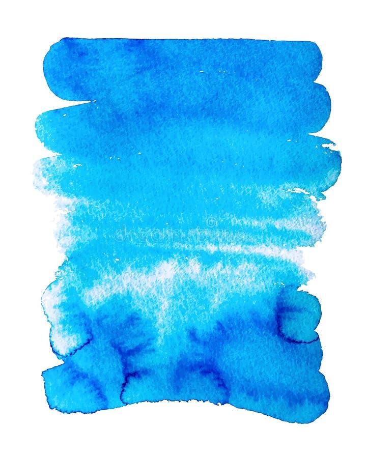 Bakgrund för textur för vattenfärg för handteckningsabstrakt begrepp som isoleras på stock illustrationer