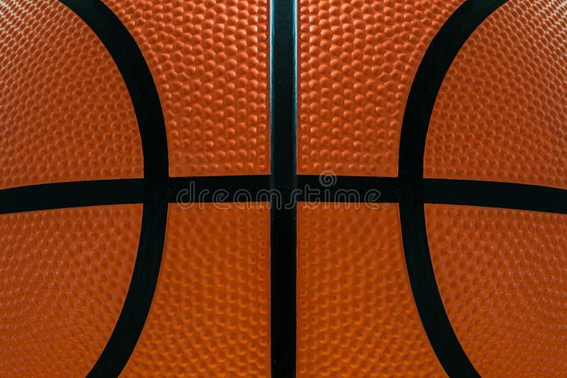 Bakgrund för textur för yttersida för läder för basketbolldetalj royaltyfria foton
