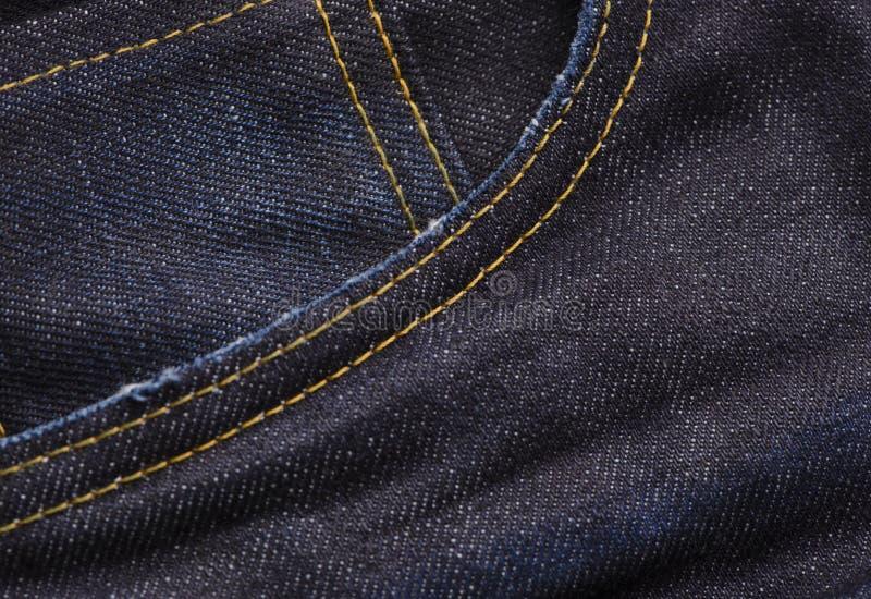 Bakgrund för textur för grov bomullstvilljeansfack royaltyfri fotografi