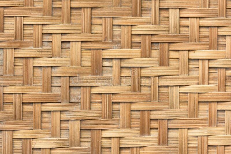 Bakgrund för textur för modell för bambukorgväv Bakgrund och royaltyfria bilder