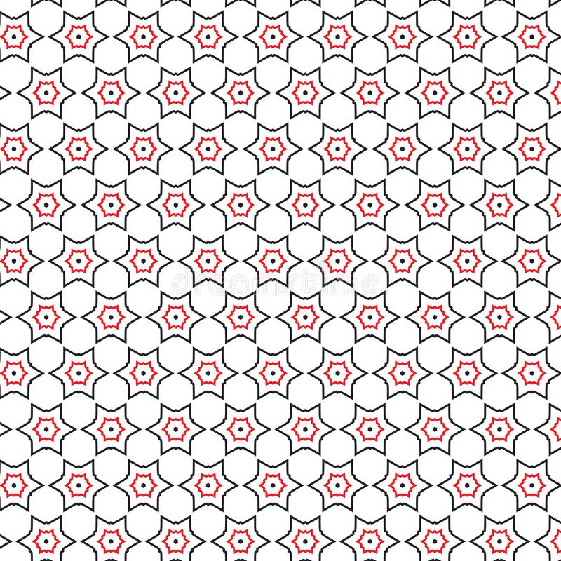 Bakgrund för textur för modell för röd stjärna för lyxabstrakt begreppsvart geometrisk stock illustrationer